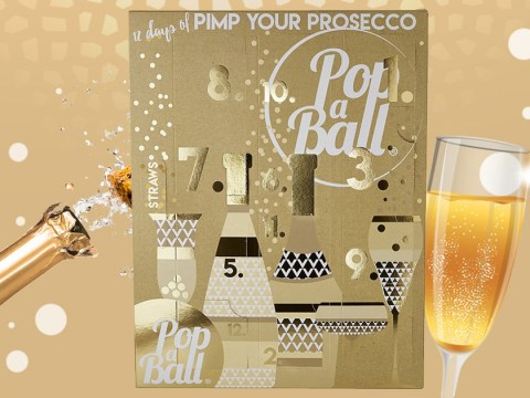 Celebrate the 12 days of Christmas with this shimmery Prosecco advent calendar