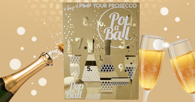 prosecco advent calendar will help you celebrate the 12. Black Bedroom Furniture Sets. Home Design Ideas
