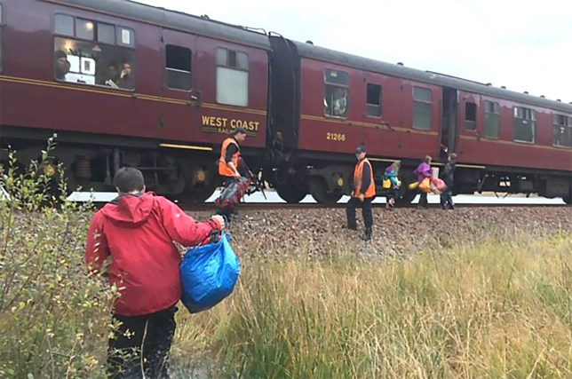 'Hogwarts Express' train rescues stranded family