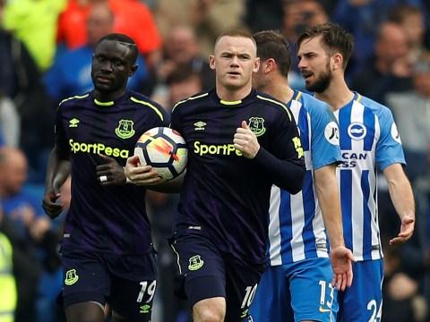 Wayne Rooney reaps England retirement benefits as Everton draw 1-1 with Brighton