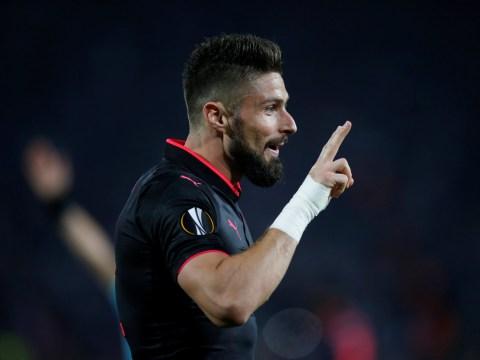 Olivier Giroud surpasses Alexandre Lacazette record with Europa League winner for Arsenal