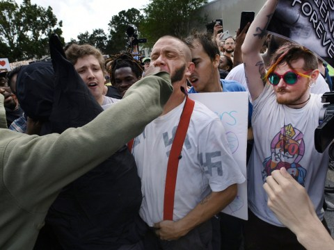 Nazi gets punched (and hugged) at white supremacist event