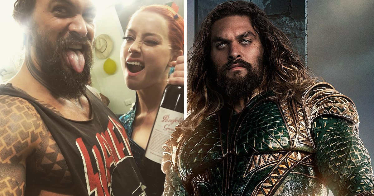 Amber Heard and Jason Momoa raise a glass to celebrate end of Aquaman filming