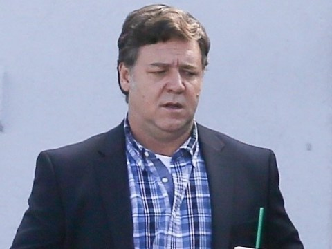 Russell Crowe spotted indulging in a coffee break on set of new film Boy Erased