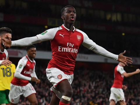 Who is Eddie Nketiah? The Arsenal youngster who scored twice against Norwich in the Carabao Cup