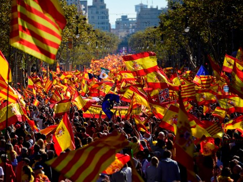 Thousands join pro-Spain rally against Catalonia independence