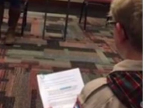 Boy kicked out of Scouts den for grilling senator on gun control