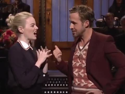 Emma Stone and Ryan Gosling poke fun at La La Land criticism in SNL skit