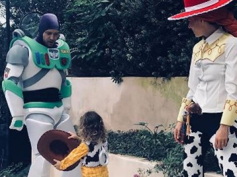 Justin Timberlake and Jessica Biel share rare family pic of son as they dress up as Toy Story crew