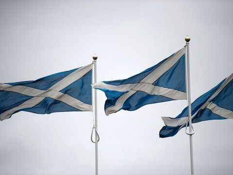 Why is the Scottish flag called the Saltire and what is the Lion Rampant flag?