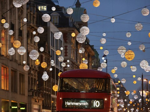 When are the Oxford Street Christmas lights being switched on?