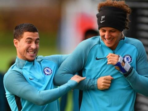 Eden Hazard sends message to Chelsea boss Antonio Conte over David Luiz bust-up