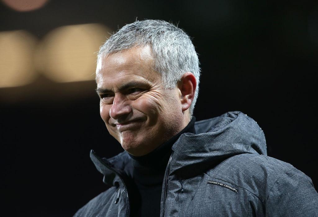 jose mourinho looks in pain