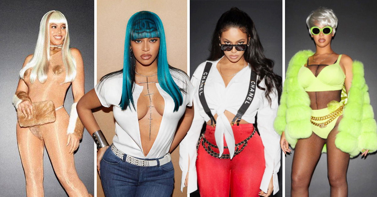Beyonce dressed as five incarnations of Lil' Kim for Halloween and absolutely slayed