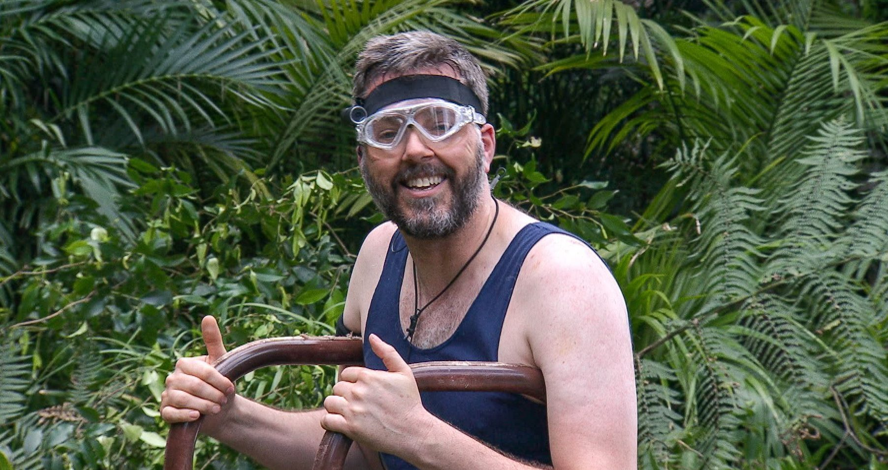 STRICT EMBARGO - NOT FOR USE BEFORE 22:10 GMT SATURDAY 25th NOVEMBER 2017. EDITORIAL USE ONLY - NO MERCHANDISING Mandatory Credit: Photo by ITV/REX/Shutterstock (9240029gf) Bushtucker Trial: The Temple of Gloom - Iain Lee 'I'm a Celebrity... Get Me Out of Here!' TV Show, Series 17, Australia - 25 Nov 2017
