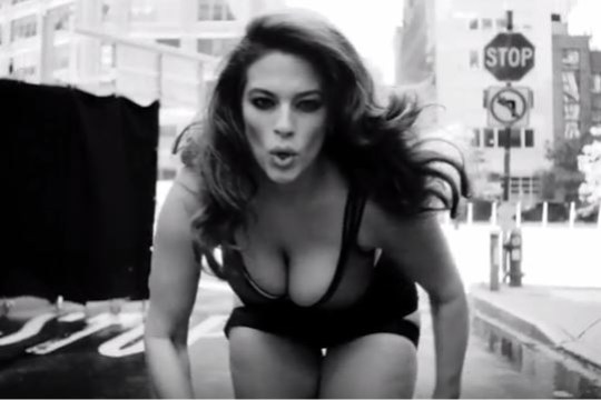 Ashley Graham running in LOVE advent calendar