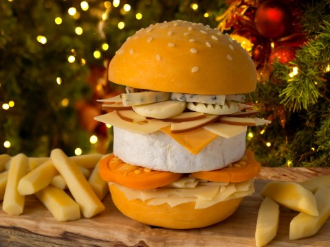 You can now get a cheese burger made with 9 different cheeses delivered to your door