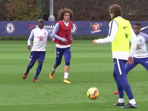 David Luiz returns to Chelsea training after row with Antonio Conte