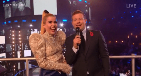 Paloma Faith's X Factor interview with Dermot O'Leary goes pear-shaped as she is told to 'ignore' him