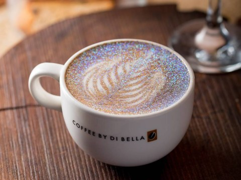 Glitter cappuccinos are here in case your coffee needed some more sparkle