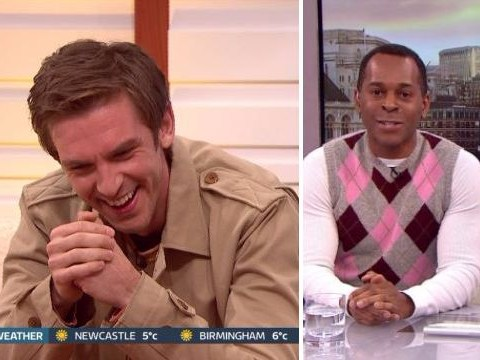 Andi Peters jokes he's 'always been this colour' after awkward slip-up from Dan Stevens