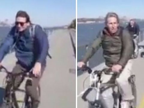 Heartbreaking video shows friends cycling through Manhattan before they're killed by terrorist