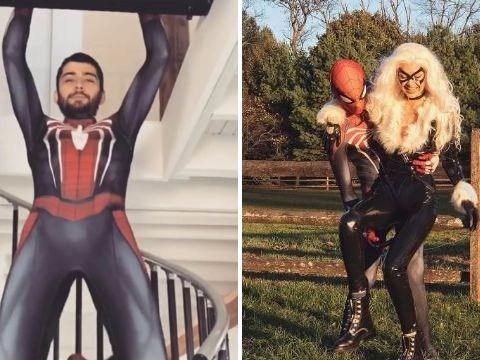 Super Zayn! Singer turns superhero to woo girlfriend Gigi Hadid for Halloween