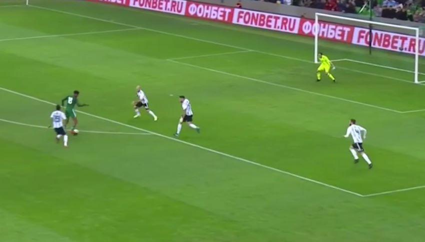 Alex Iwobi pulls off delicious nutmeg on Javier Mascherano in masterclass for Nigeria against Argentina