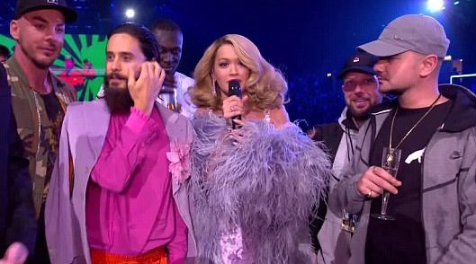 Jared Leto was confused for Jay Leno at the MTV EMAs and it was awkward