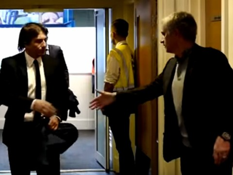 Jose Mourinho waits for Antonio Conte handshake before Manchester United's defeat at Chelsea