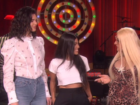 Kourtney and Kendall refuse to deny Khloe and Kylie pregnancy rumours during Kardashian pregnancy skit