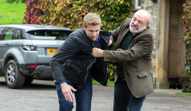 Lawrence beats up Robert in Emmerdale spoiler
