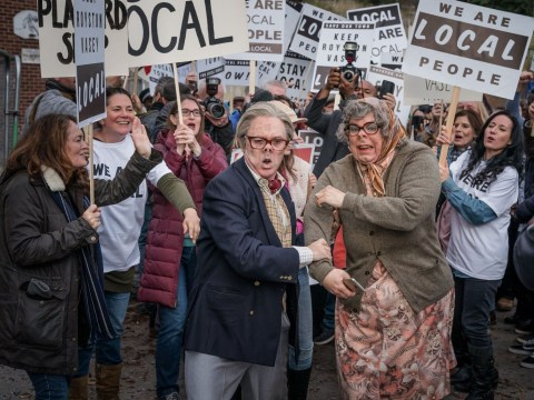 New picture from League Of Gentlemen specials sees Edward and Tubbs fleeing the locals