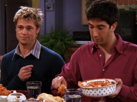 Because it's Thanksgiving, here's a reminder of that Friends continuity error from Brad Pitt's episode