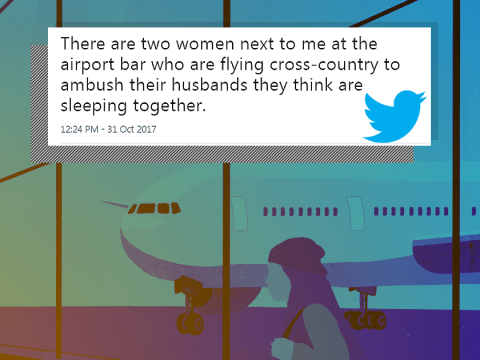 Girl at airport live tweets two women about to fly interstate to ambush their cheating husbands