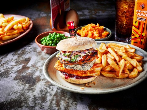 Nando's launches a snazzy Christmas burger topped with chestnut pate