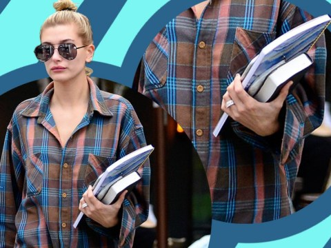 Hailey Baldwin sports diamond 'engagement' ring days after being spotted 'holding hands' with Shawn Mendes