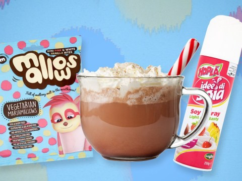 Sainsbury's is now selling vegan whipped cream and marshmallows for your hot chocolate