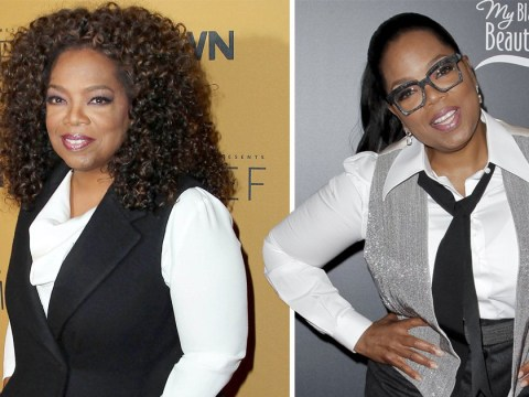 Oprah Winfrey, all round goddess, is beaming after losing 40lbs