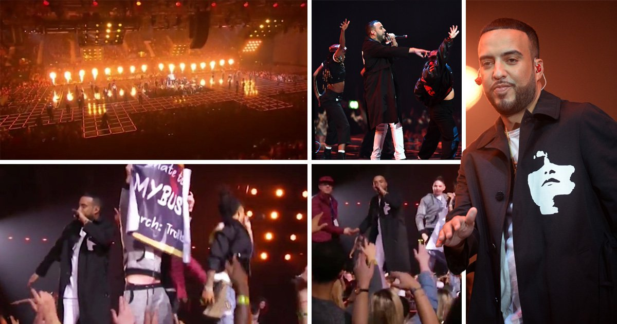French Montana's performance at the MTV EMAs is interrupted by YouTube pranksters