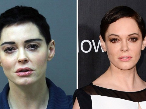 Rose McGowan's mugshot revealed as she surrenders to police over drug warrant
