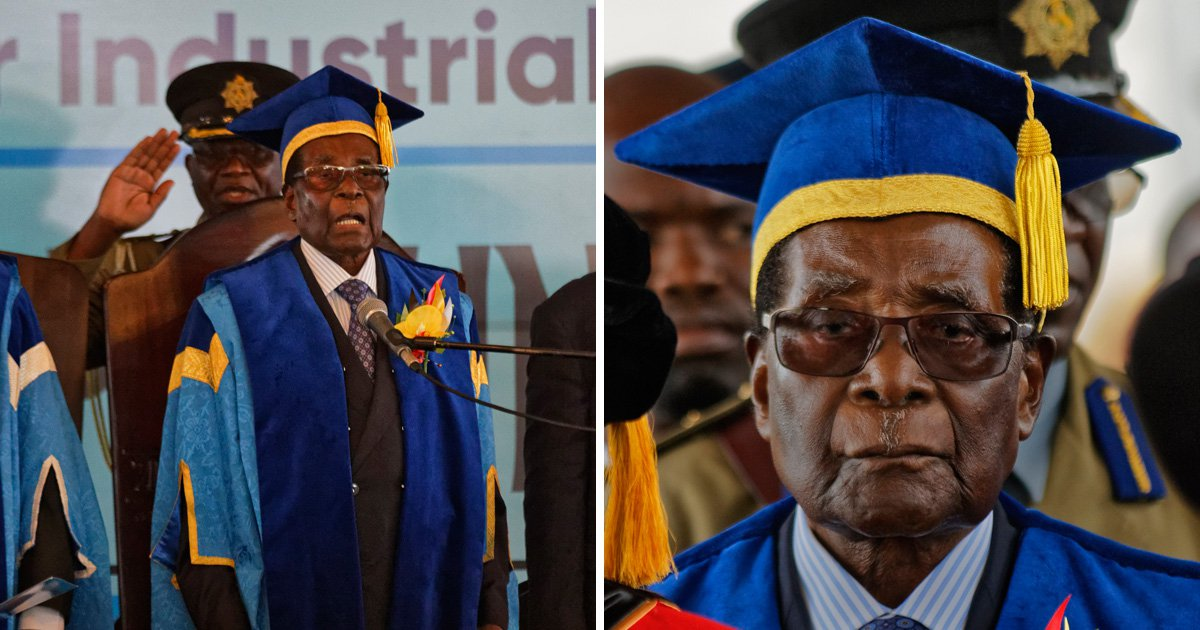 Robert Mugabe makes first public appearance since military coup in Zimbabwe