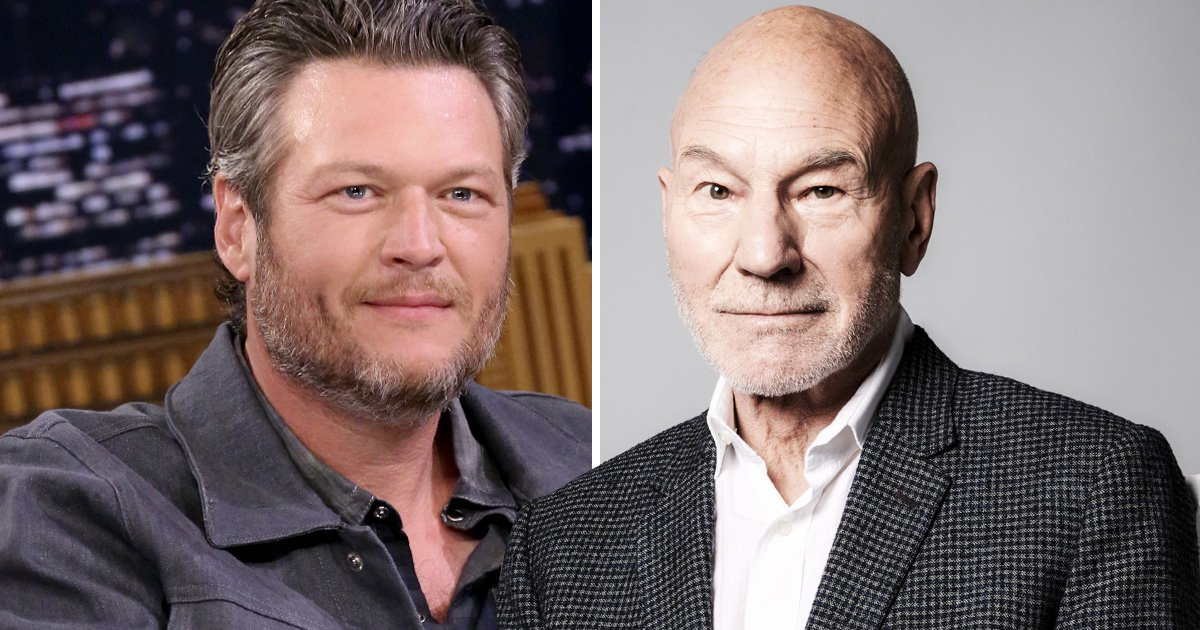 Sir Patrick Stewart has taken Blake Shelton's 'Sexiest Man Alive' crown with hilarious snap