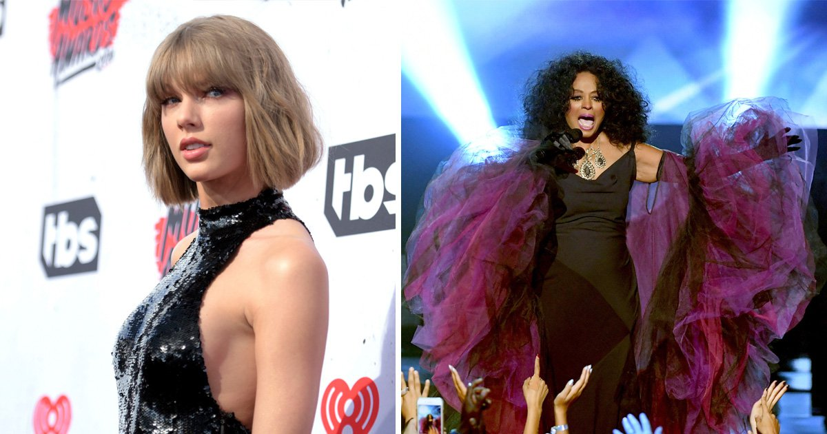 Taylor Swift makes surprise appearance at 2017 AMAs to honour Diana Ross