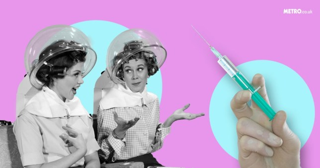 Women getting Blotox - Botox injections to make your blow dry last longer