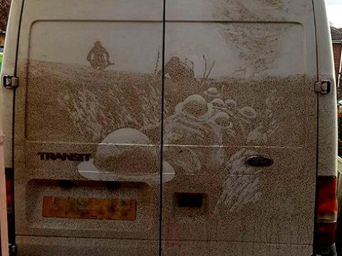 Grime artist recreates amazing World War One image on the back of a van