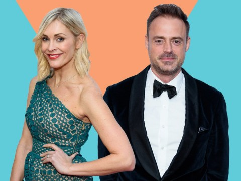 Married stars Jamie Theakston and Jenni Falconer spotted holding hands after awards party