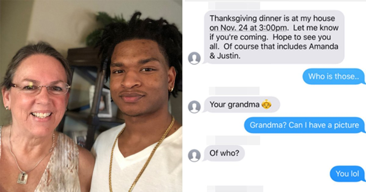 Grandma who texted wrong grandson returns for second Thanksgiving