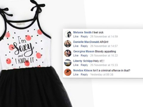 Parents slam dress for three-year-olds that says 'I'm Sexy and I Know It'