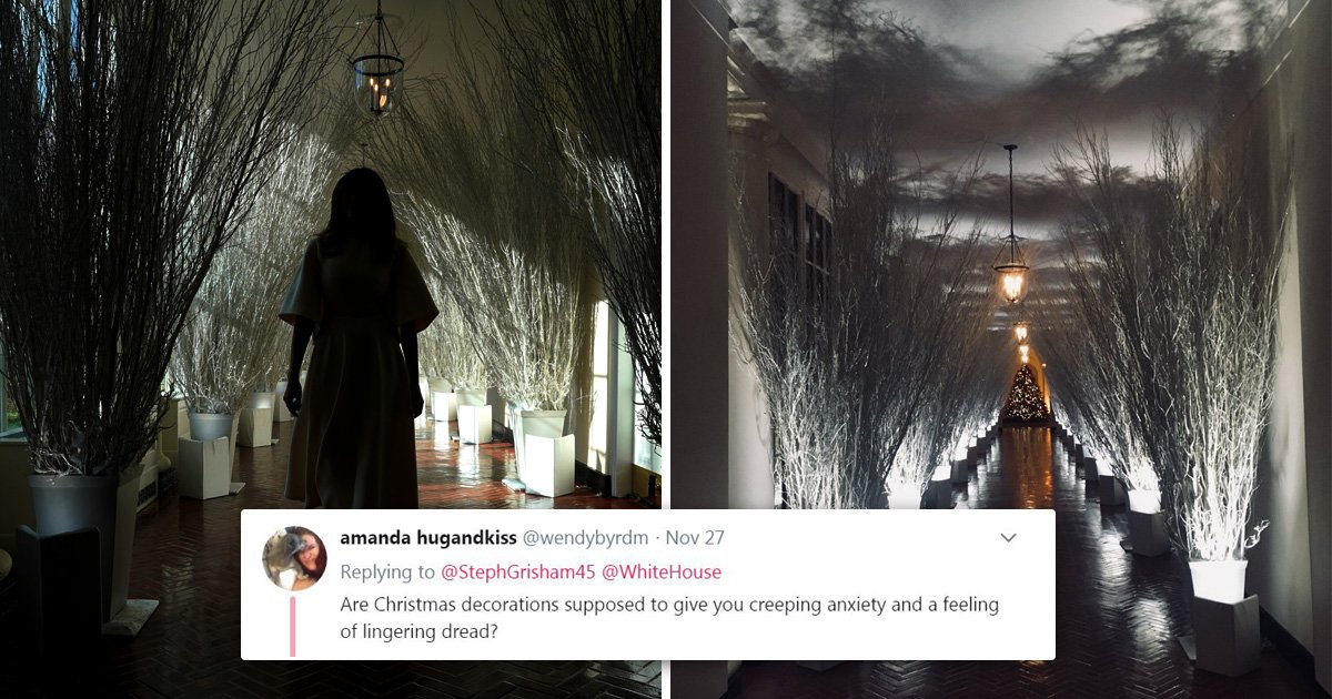 Melania's White House decorations invoke powerful sense of Christmas doom